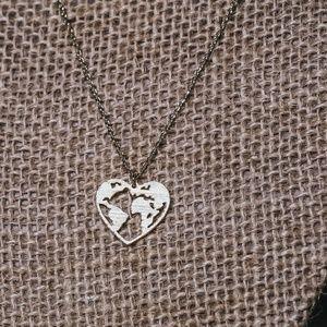 Heart Earth Traveler Necklace